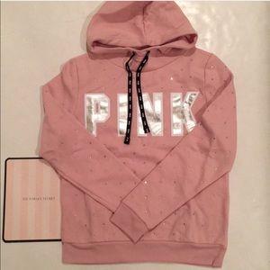 VS Pink bling rhinestone hoodie